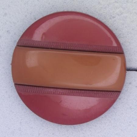 Ref000360 Botón Redondo en colores burdeos y  marron