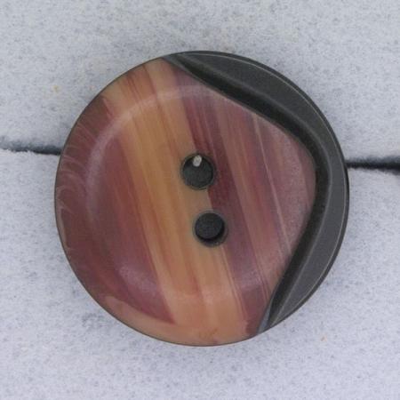 Ref000365 Botón Redondo en colores burdeos y  marron y  rosa y  salmon y  negro