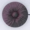 Ref000368 Botón Redondo en colores burdeos y  morado y  negro
