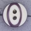 Ref000388 Botón Redondo en colores morado y  lila y  blanco