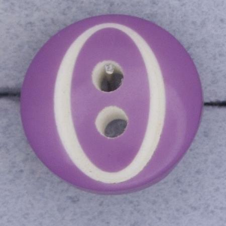 Ref000389 Botón Redondo en colores lila y  blanco