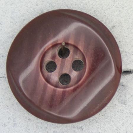 Ref000390 Botón Redondo en colores burdeos y  marron