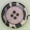 Ref000406 Botón Redondo en colores lila y  morado y  negro