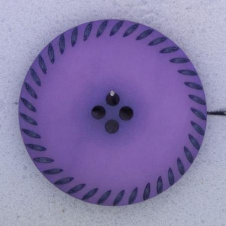 Ref000409 Botón Redondo en colores morado y  lila y  negro
