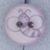 Ref000431 Botón Redondo en colores lila y  rosa y  transparente