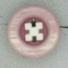 Ref000441 Botón Redondo en colores lila y  rosa y  blanco