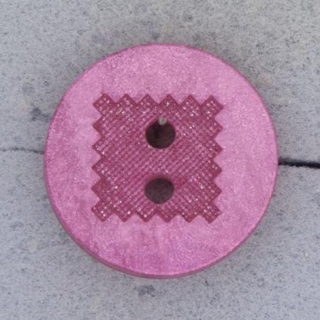 Ref000459 Botón Redondo en colores rosa y  fucsia