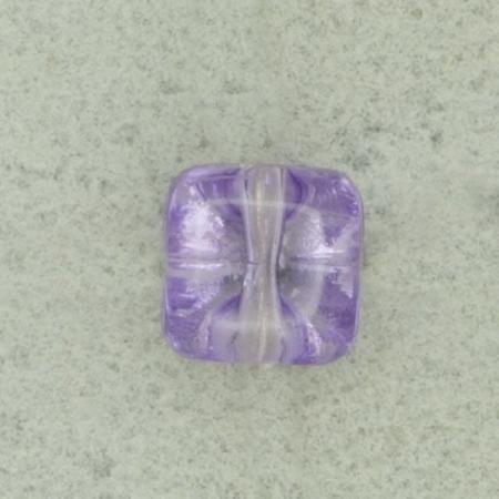 Ref000472 Botón Cuadrado en colores lila y  morado y  transparente