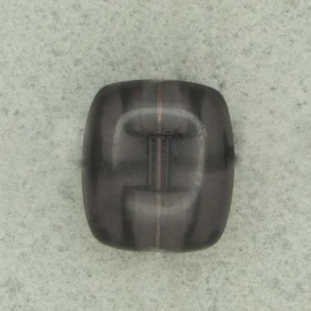 Ref000479 Botón Rectangular en colores negro y  transparente
