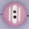 Ref000483 Botón Redondo en colores rosa y  blanco