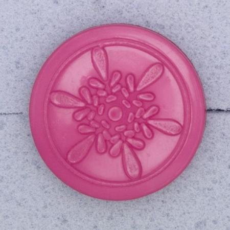 Ref000557 Botón Redondo en colores rosa y  fucsia