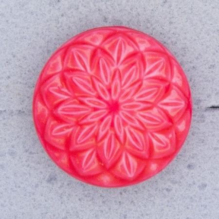 Ref000586 Botón Redondo en colores rosa y  rojo y  fucsia