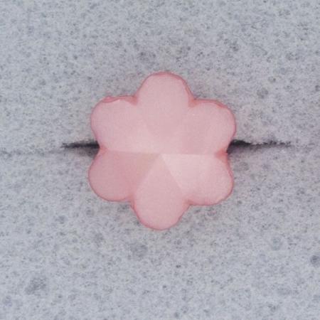 Ref000590 Botón Estrella, Flor en color rosa