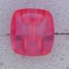 Ref000594 Botón Rectangular en colores rosa y  transparente y  fucsia