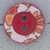 Ref000613 Botón Redondo en colores fucsia y  rosa y  rojo