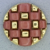 Ref000649 Botón Redondo en colores salmon y  morado y  dorado