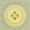 Ref000671 Botón Redondo en colores blanco y  crema y  dorado