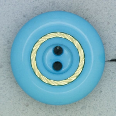Ref000689 Botón Redondo en colores turquesa y  azul y  verde y  dorado