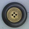 Ref000700 Botón Redondo en colores negro y  dorado
