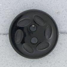 Ref000065 Botón Redondo en color negro