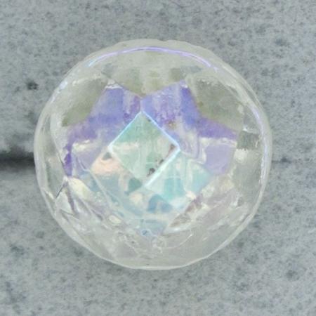 Ref000732 Botón Redondo en colores transparente y  cristal