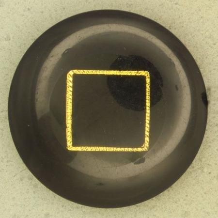 Ref000740 Botón Redondo en colores azul y  dorado