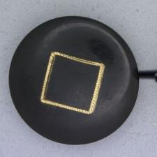 Ref000741 Botón Redondo en colores negro y  dorado