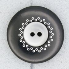 Ref000069 Botón Redondo en color negro
