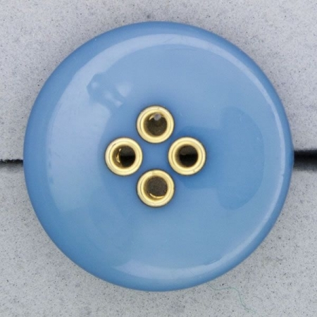 Ref000793 Botón Redondo en colores azul y  turquesa y  dorado