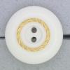 Ref000798 Botón Redondo en colores blanco y  dorado