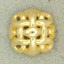 Ref000850 Botón Redondo en color dorado