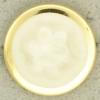Ref000869 Botón Redondo en colores blanco y  dorado