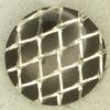 Ref000870 Botón redondo en colores plata y  negro