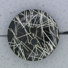 Ref000901 Botón Redondo en colores negro y  plata