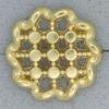 Ref000924 Botón Redondo, Flor en color dorado