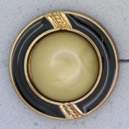 Ref000955 Botón Redondo en colores verde y  dorado y  bronce y  negro