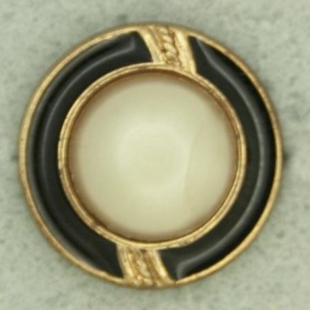 Ref000956 Botón Redondo en colores beige y  dorado y  bronce y  negro