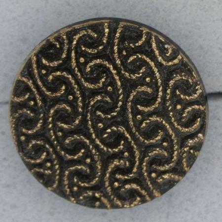Ref000963 Botón Redondo en colores bronce y  azabache