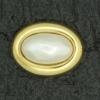 Ref000966 Botón Ovalado en colores dorado y  blanco