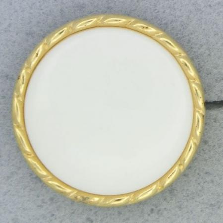 Ref001013 Botón Redondo en colores dorado y  blanco