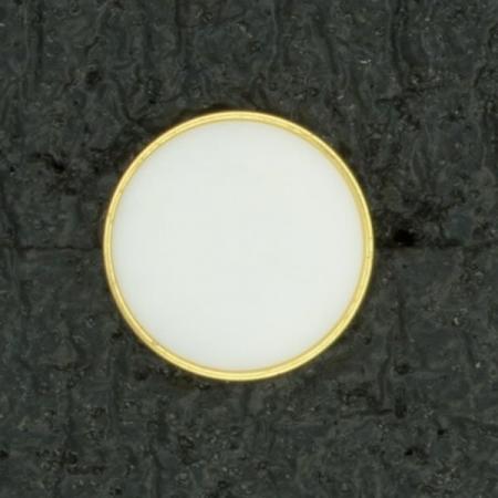 Ref001014 Botón Redondo en colores dorado y  blanco