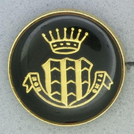 Ref001023 Botón Redondo en colores negro y  dorado
