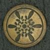 Ref001025 Botón Redondo en colores dorado y  negro