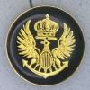 Ref001026 Botón Redondo en colores dorado y  negro