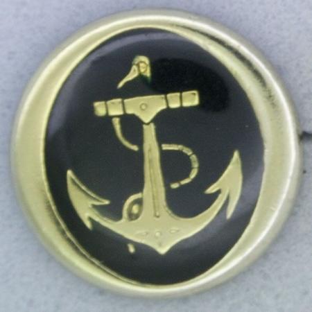Ref001029 Botón Redondo en colores dorado y  negro