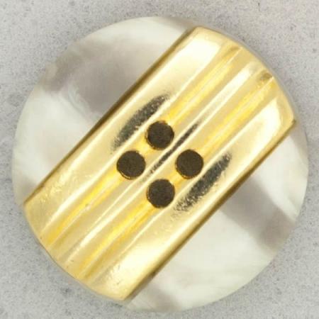Ref001043 Botón Redondo en colores gris y  dorado