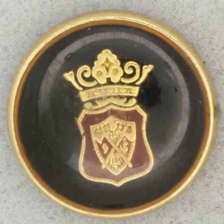 Ref001044 Botón Redondo en colores negro y  dorado y  burdeo
