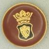 Ref001045 Botón Redondo en colores negro y  dorado y  burdeo