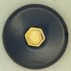 Ref001052 Botón Redondo en colores azul y  dorado