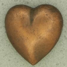 Ref001068 Botón Formas en color bronce